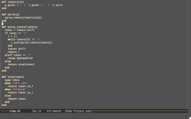 Emacs fullscreen screenshot
